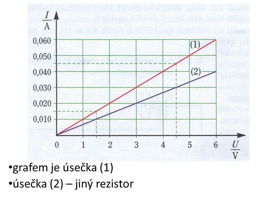 Ohmův zákon: elektrický proud I v kovovém vodiči je přímo úměrný elektrickému napětí U mezi jeho konci