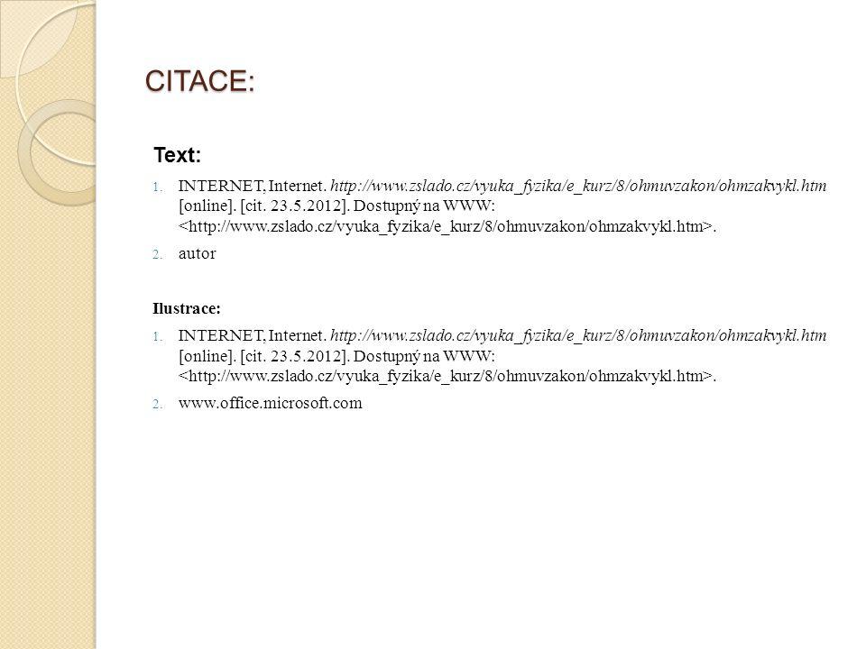 CITACE: Text: 1.INTERNET, Internet.