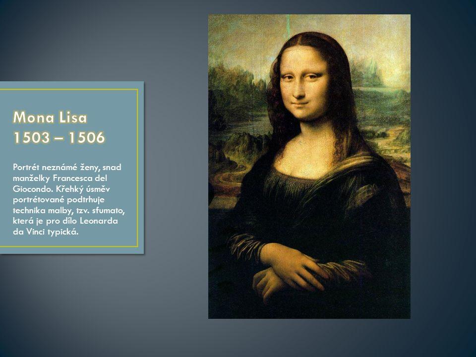 Portrét neznámé ženy, snad manželky Francesca del Giocondo.