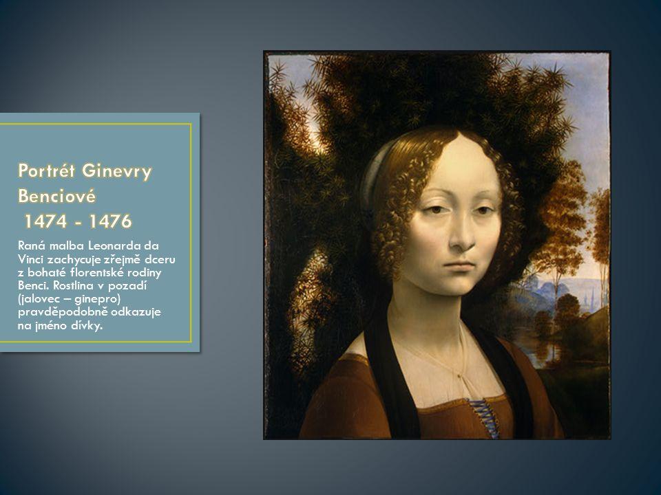 Raná malba Leonarda da Vinci zachycuje zřejmě dceru z bohaté florentské rodiny Benci.
