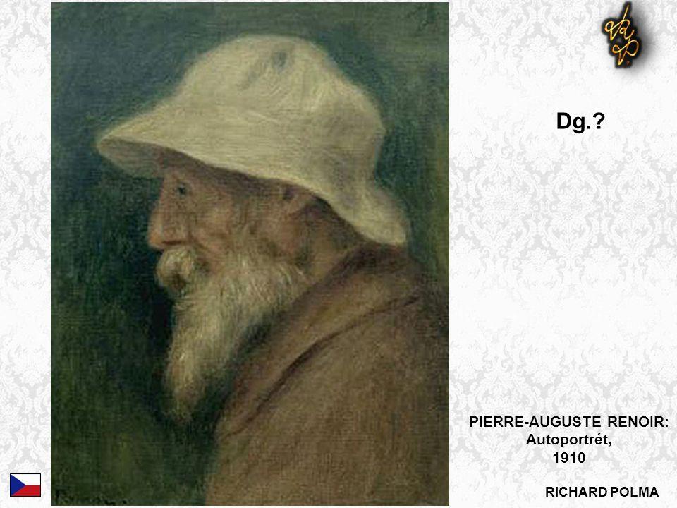 PIERRE-AUGUSTE RENOIR: Autoportrét, 1910 Dg.