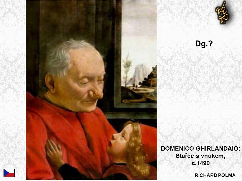 DOMENICO GHIRLANDAIO: Stařec s vnukem, c.1490 Dg.
