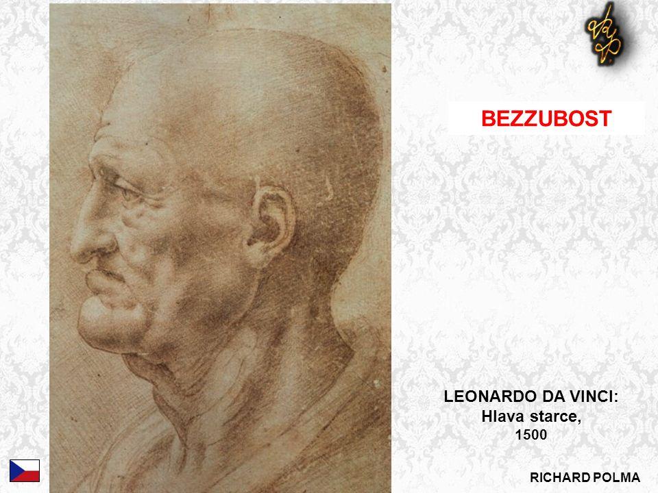 RICHARD POLMA BEZZUBOST LEONARDO DA VINCI: Hlava starce, 1500