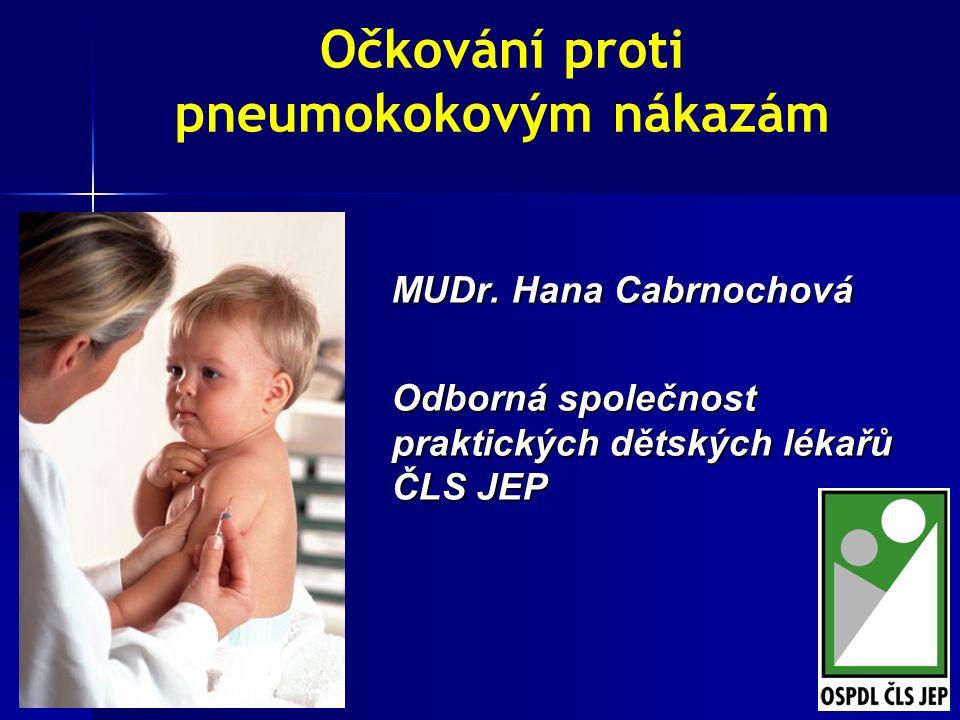 1 Očkování proti pneumokokovým nákazám MUDr.