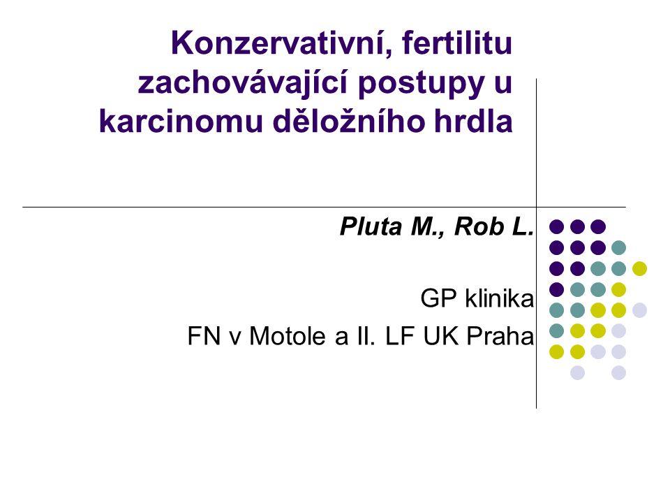 Konzervativní, fertilitu zachovávající postupy u karcinomu děložního hrdla Pluta M., Rob L. GP klinika FN v Motole a II. LF UK Praha
