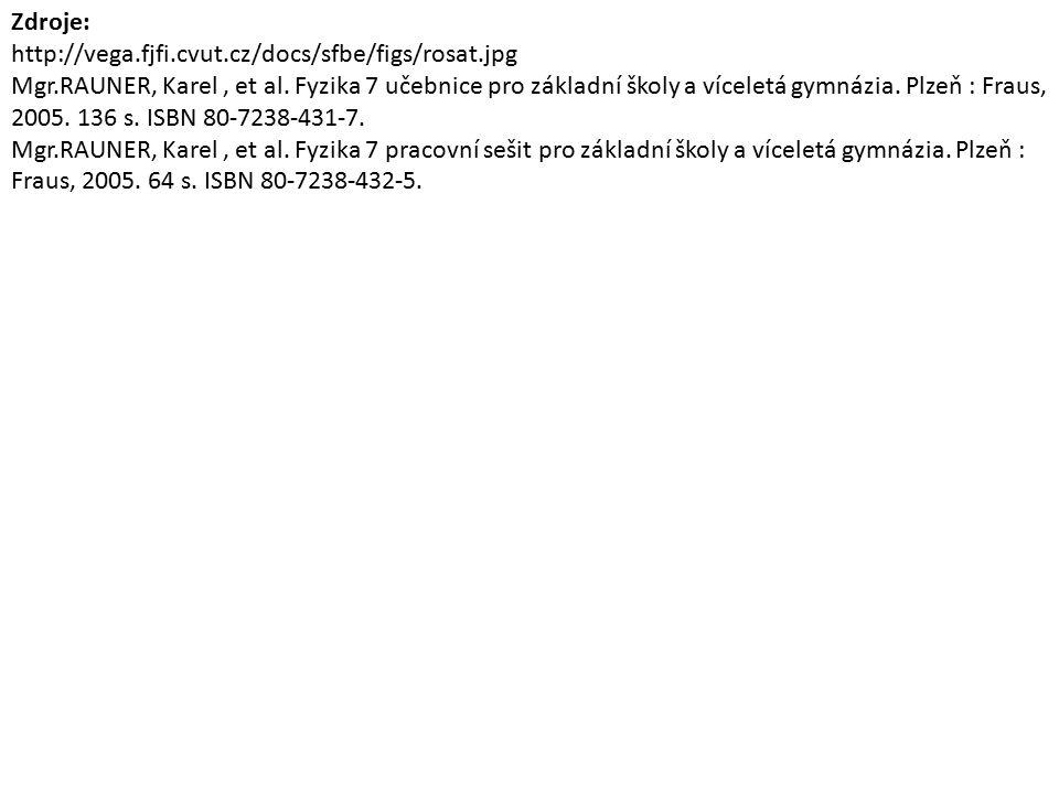 Zdroje: http://vega.fjfi.cvut.cz/docs/sfbe/figs/rosat.jpg Mgr.RAUNER, Karel, et al.