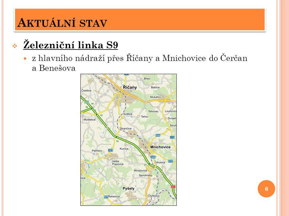 A KTUÁLNÍ STAV  Z mimopražských linek linky 409+410 z Kostelce n.Č.l.