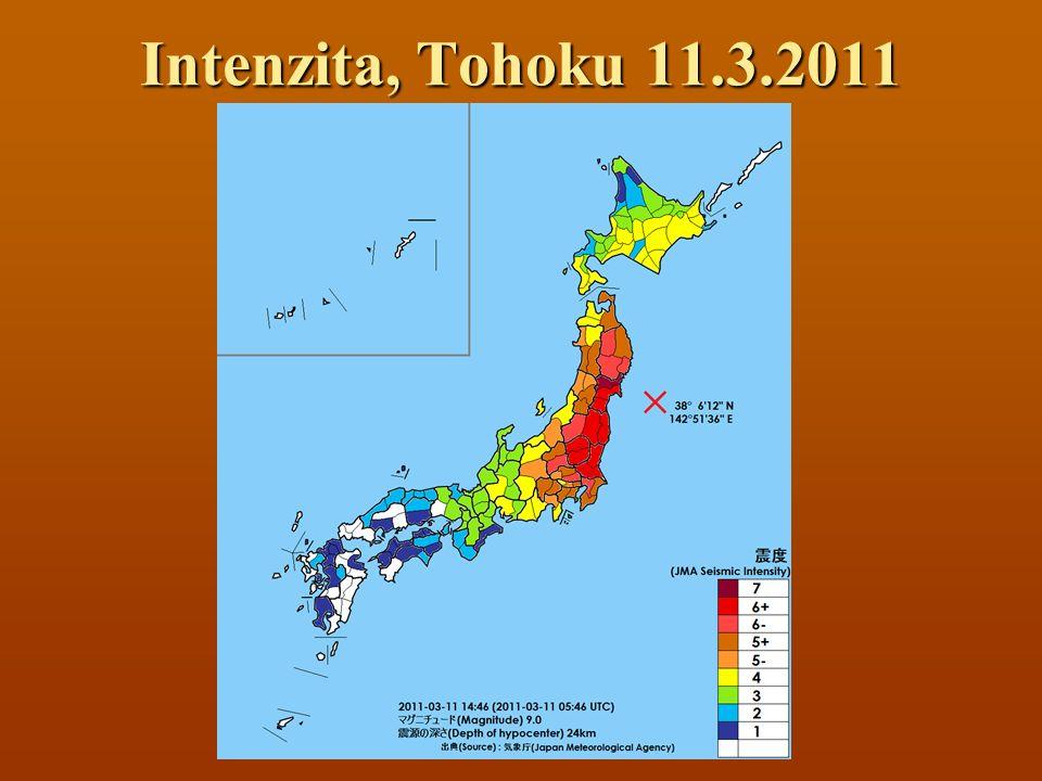 Intenzita, Tohoku 11.3.2011