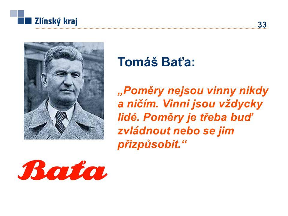 """33 Tomáš Baťa: """"Poměry nejsou vinny nikdy a ničím. Vinni jsou vždycky lidé. Poměry je třeba buď zvládnout nebo se jim přizpůsobit."""""""