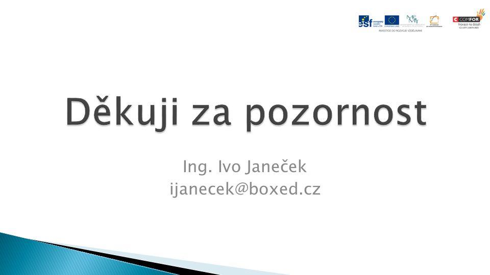 Ing. Ivo Janeček ijanecek@boxed.cz