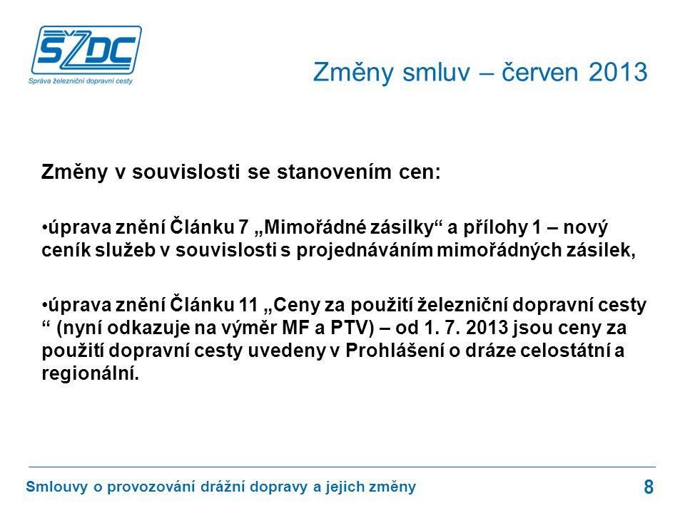Kontakty 9 Smlouvy o provozování drážní dopravy a jejich změny Ing.