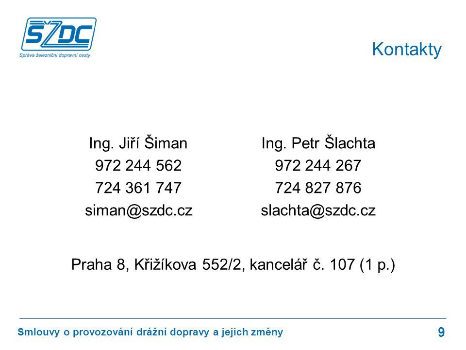 www.szdc.cz © Správa železniční dopravní cesty, státní organizace Smlouvy o provozování drážní dopravy a jejich změny