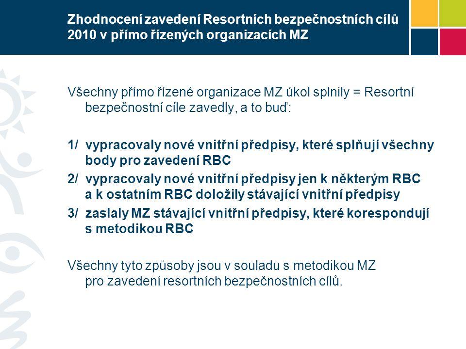 Doplnění resortních bezpečnostních cílů č.