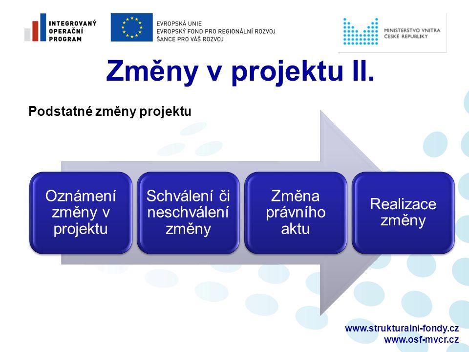 www.strukturalni-fondy.cz www.osf-mvcr.cz Změny v projektu II.