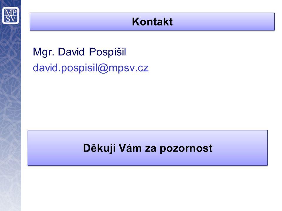 Kontakt Mgr. David Pospíšil david.pospisil@mpsv.cz Děkuji Vám za pozornost