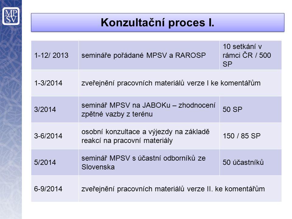 Konzultační proces I.