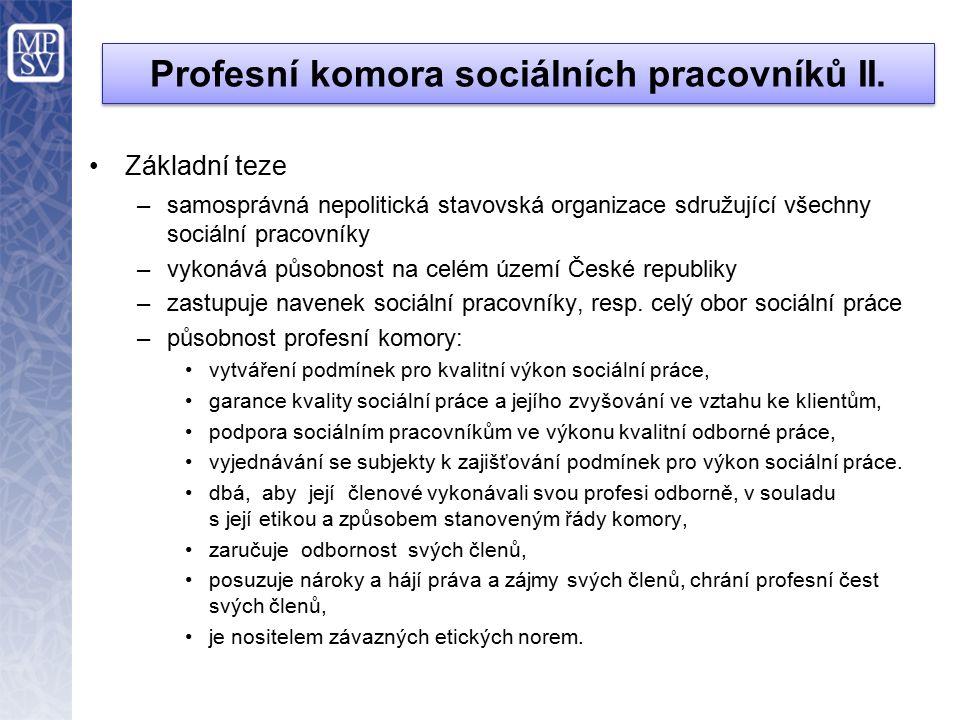 Profesní komora sociálních pracovníků III.