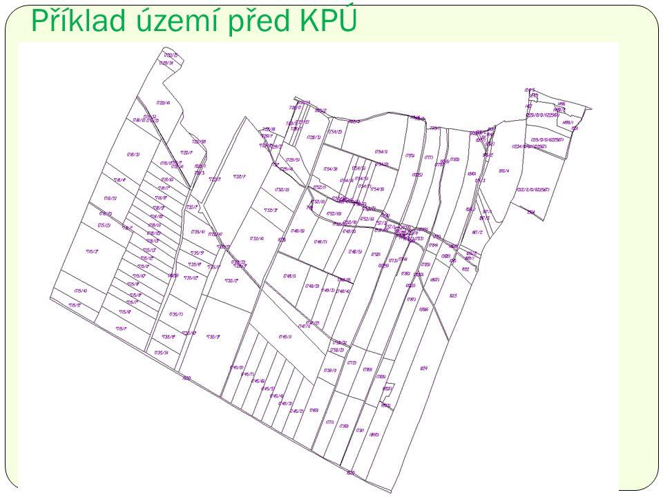 Příklad území před KPÚ