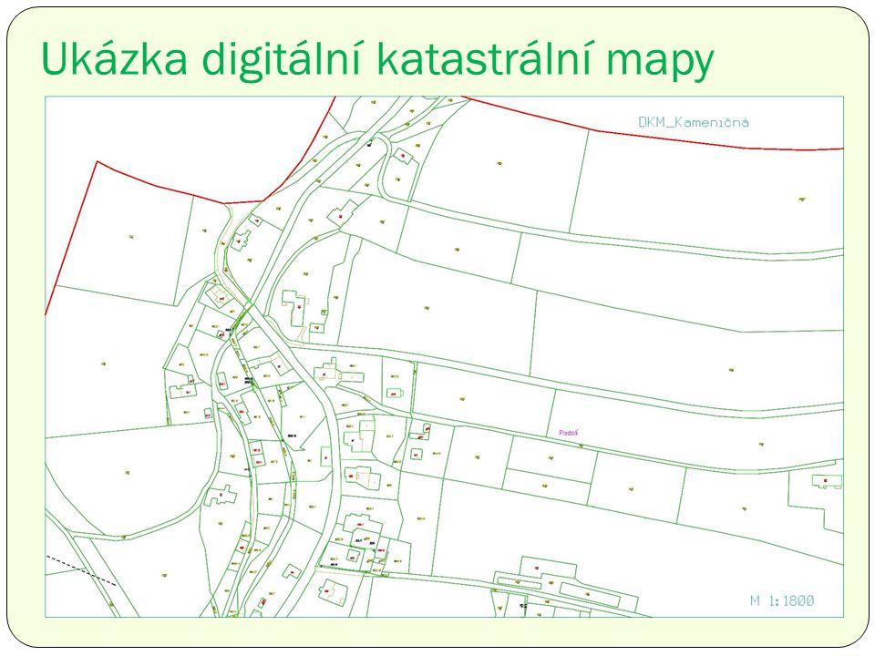 Ukázka digitální katastrální mapy