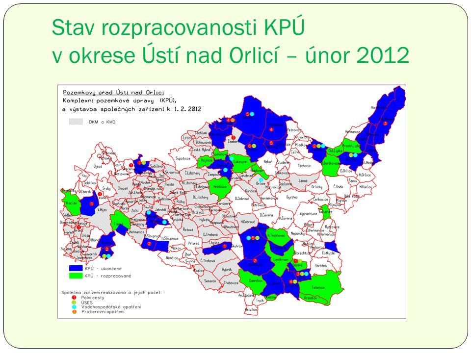 Stav rozpracovanosti KPÚ v okrese Ústí nad Orlicí – únor 2012