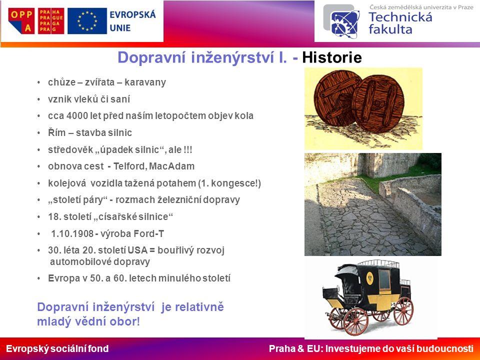Evropský sociální fond Praha & EU: Investujeme do vaší budoucnosti Chůze je neopominutelná součást dopravy.