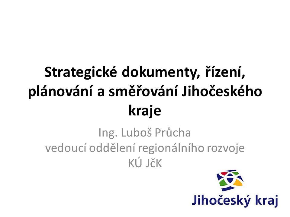 Strategické dokumenty, řízení, plánování a směřování Jihočeského kraje Ing.