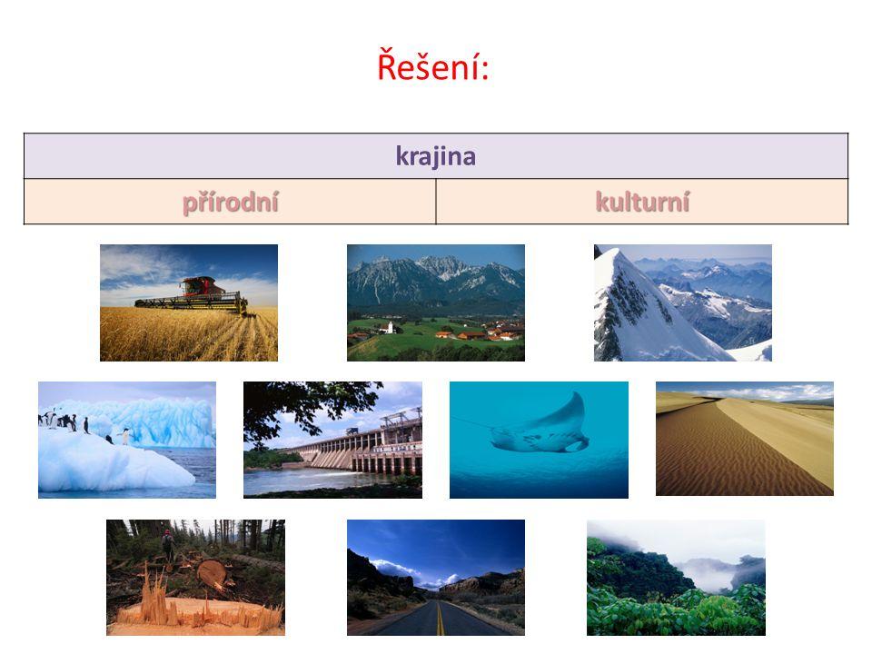 Řešení: krajina přírodníkulturní