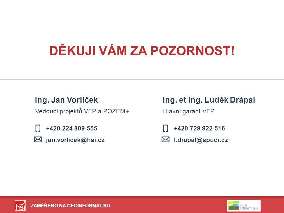 ZAMĚŘENO NA GEOINFORMATIKU +420 224 809 555 jan.vorlicek@hsi.cz DĚKUJI VÁM ZA POZORNOST.