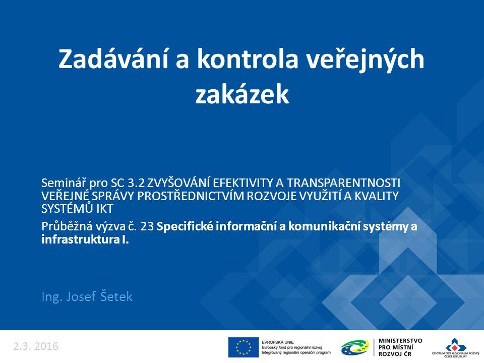 Kontrola veřejných zakázek 12
