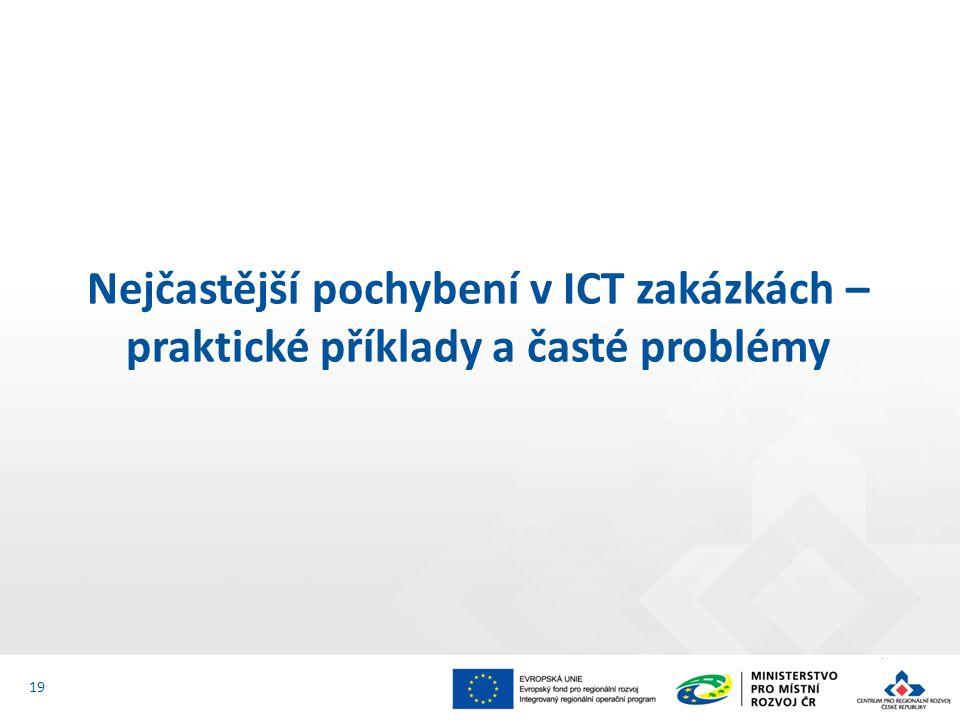 Nejčastější pochybení v ICT zakázkách – praktické příklady a časté problémy 19