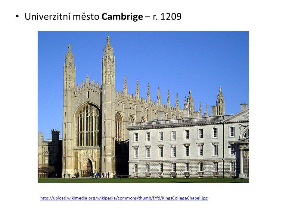 Univerzitní město Cambrige – r.