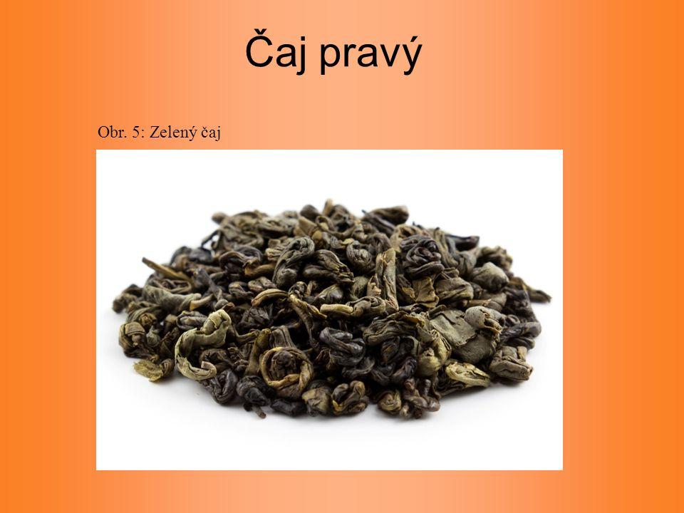 Čaj pravý Obr. 5: Zelený čaj