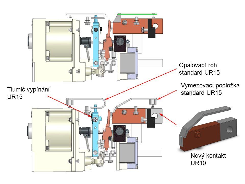 Tlumič vypínání UR15 Nový kontakt UR10 Vymezovací podložka standard UR15 Opalovací roh standard UR15