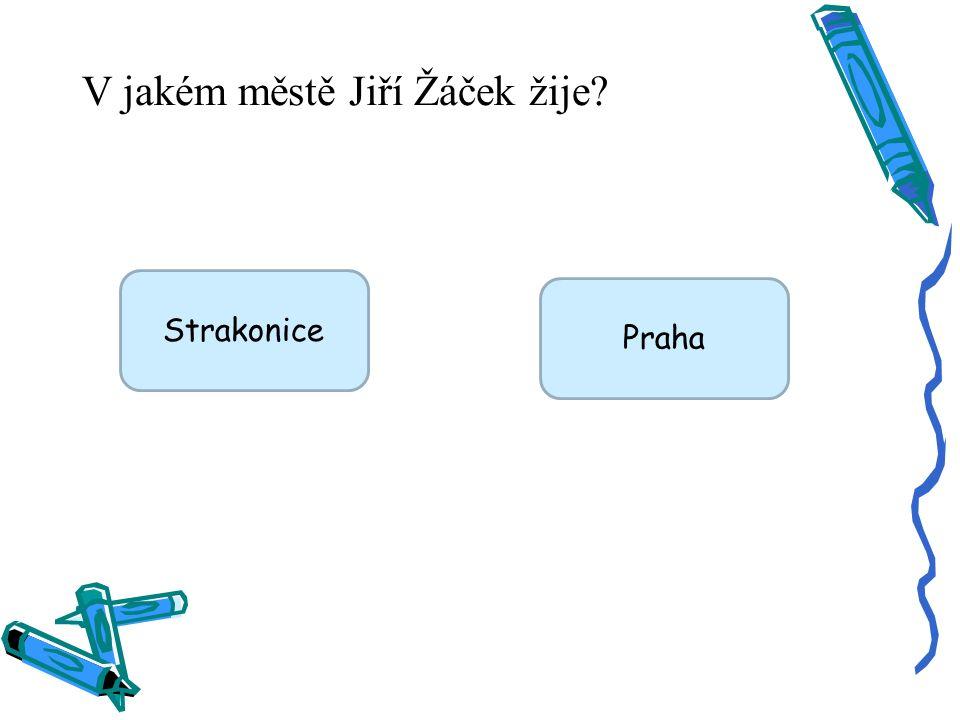 V jakém městě Jiří Žáček žije? Strakonice Praha