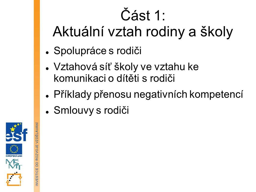 Spolupráce s rodiči nejčastější formy spolupráce ŠPP s rodiči netradiční formy spolupráce typické skupiny problémových rodičů Tato prezentace je spolufinancována Evropským sociálním fondem a státním rozpočtem České republiky.