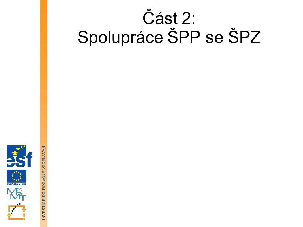 Část 2: Spolupráce ŠPP se ŠPZ Tato prezentace je spolufinancována Evropským sociálním fondem a státním rozpočtem České republiky.