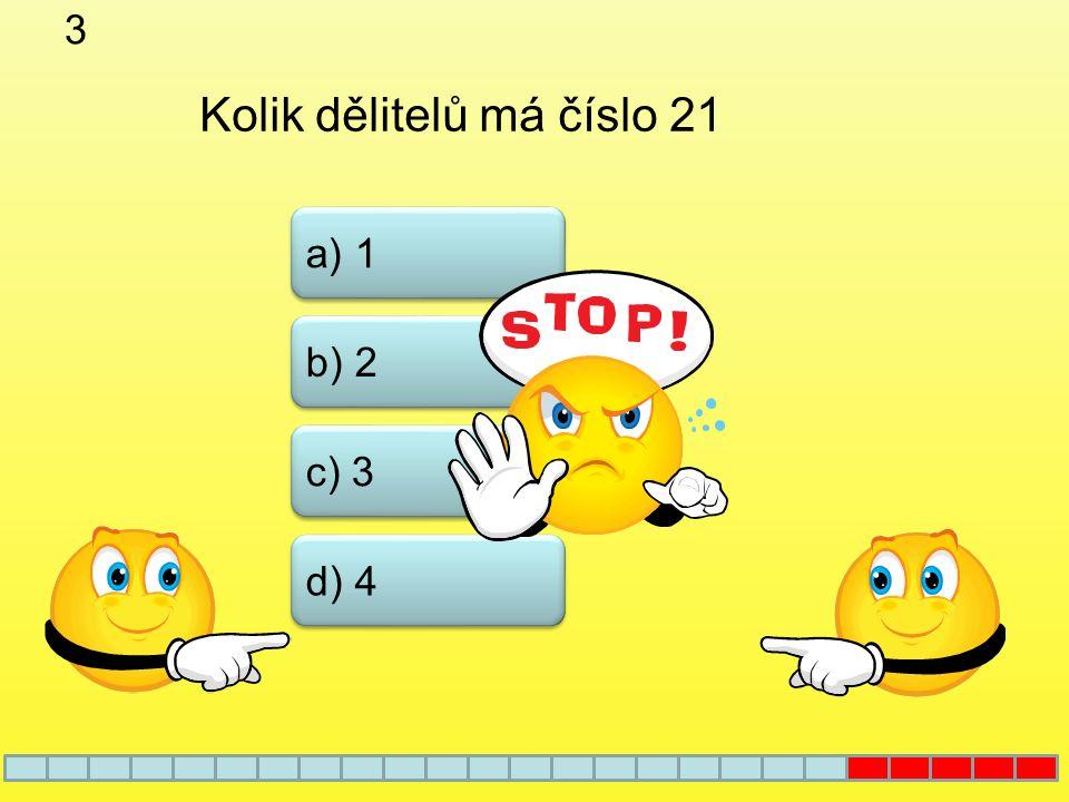 2 Které z uvedených čísel není prvočíslem b) 51 a) 61 c) 41 d) 31