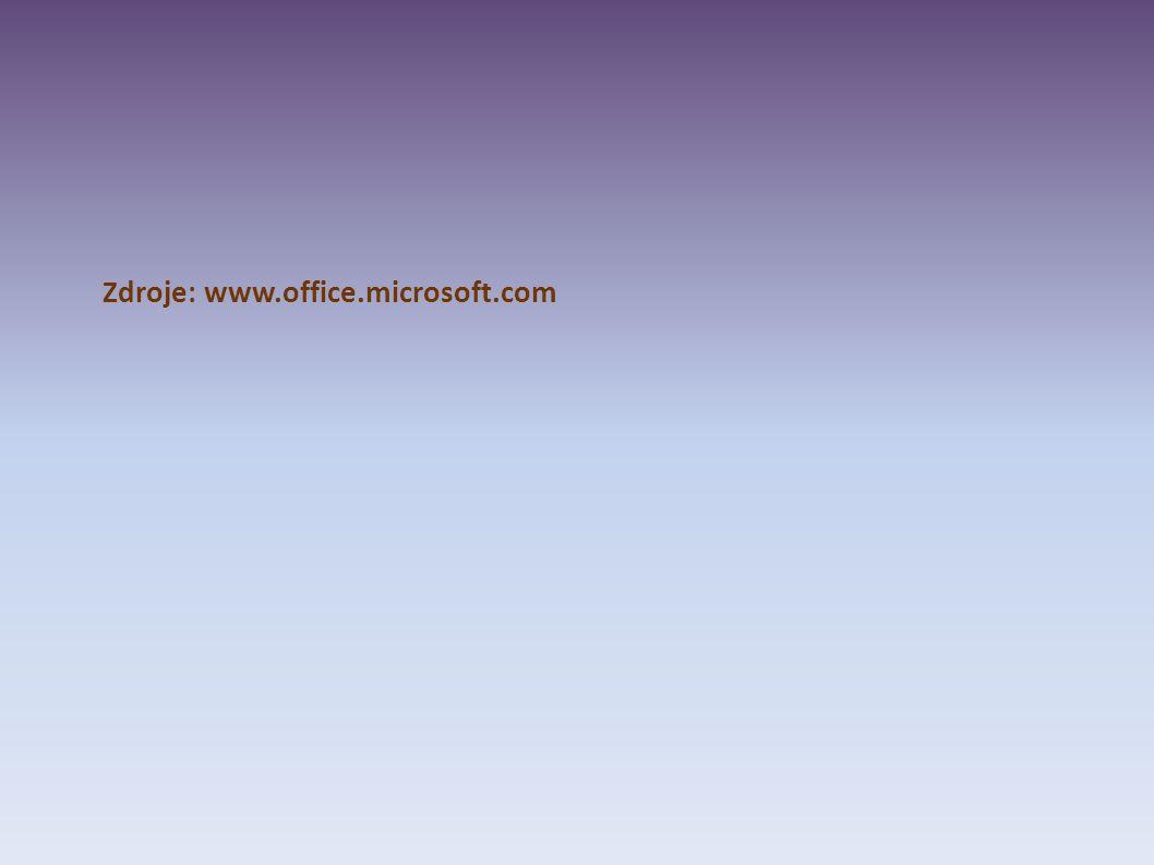 Zdroje: www.office.microsoft.com