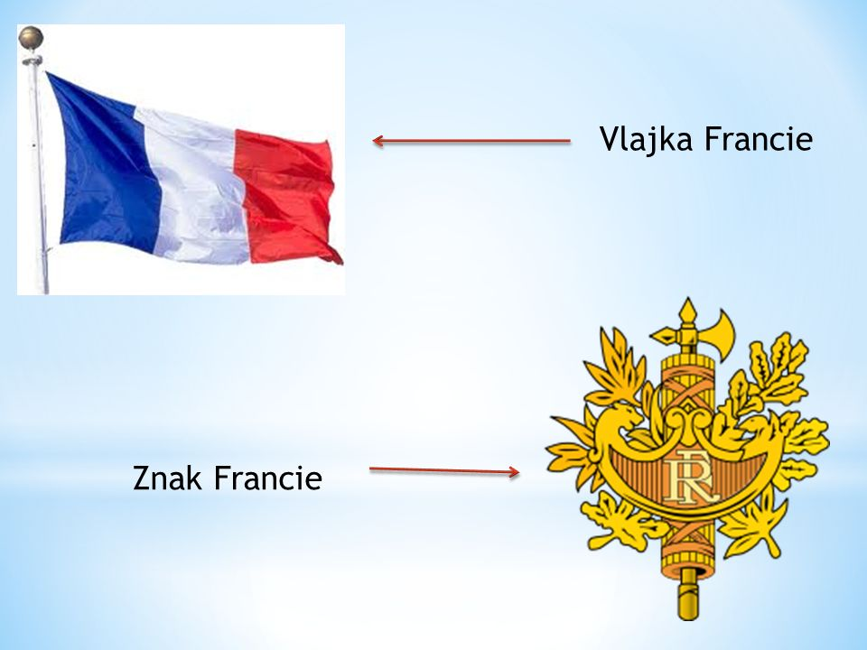 Vlajka Francie Znak Francie