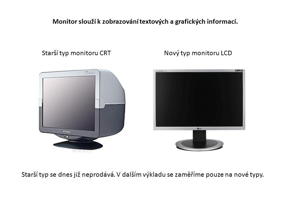 Monitor slouží k zobrazování textových a grafických informací.