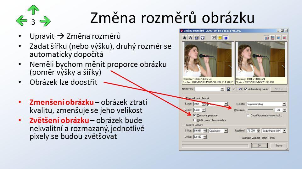 Tím jak rostou monitory a rozlišení tisku tiskáren, zvyšuje se potřeba velikosti fotografií Doporučené minimální velikosti 4 Způsob použitíRozměry obrázkuVelikost obrázku Umístění na webu1280 × 9601 Mpx Prohlížení na monitoru1920 x 10802 Mpx Tisk fotografie 9x131632 × 12242 Mpx Tisk ve formátu A42048 × 15363 Mpx Tisk ve formátu A32560 × 19205 Mpx