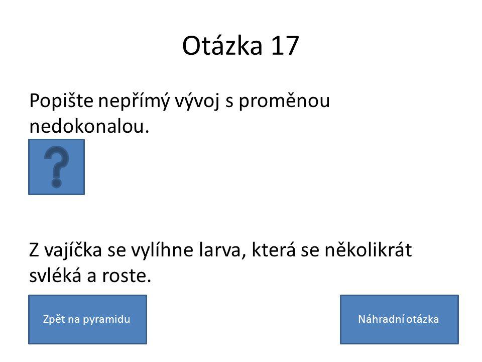 Otázka 17 Popište nepřímý vývoj s proměnou nedokonalou.