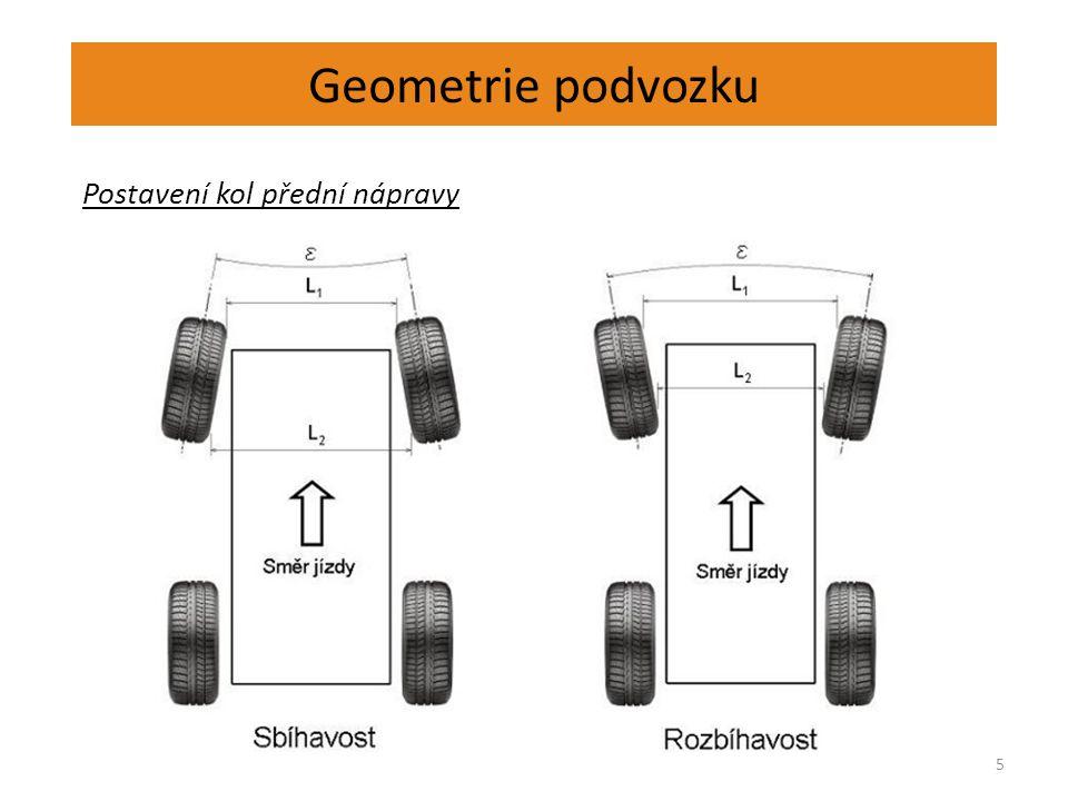 Geometrie podvozku 5 Postavení kol přední nápravy