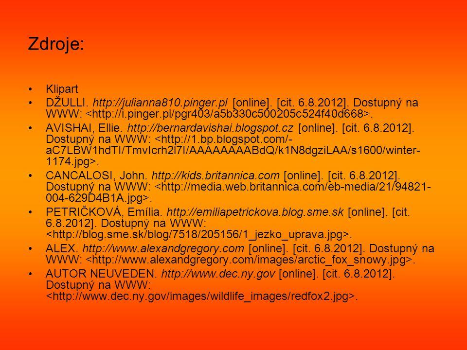Zdroje: Klipart DŽULLI. http://julianna810.pinger.pl [online].