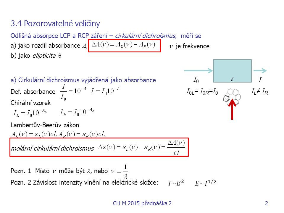 I0I0 I l I 0L = I 0R = I 0 I L ≠ I R CH M 2015 přednáška 22  je frekvence