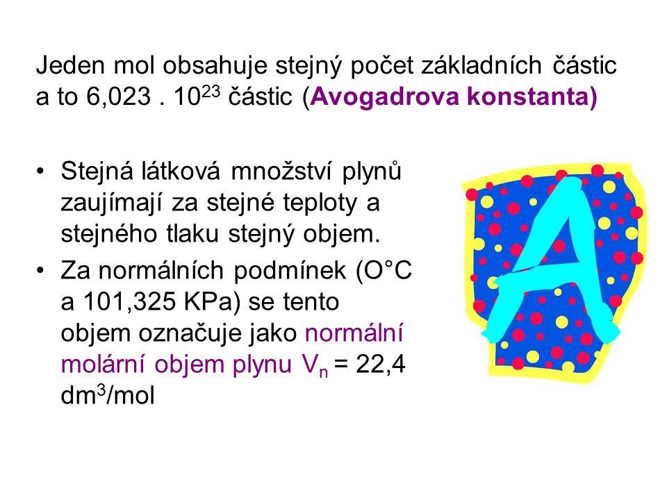 Látkové množství je důležité při výpočtech složení roztoků.