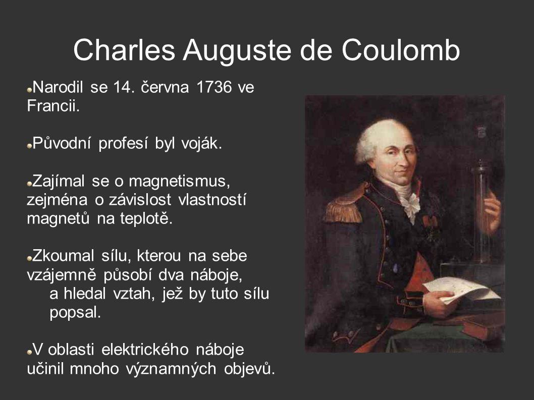Charles Auguste de Coulomb Narodil se 14. června 1736 ve Francii.