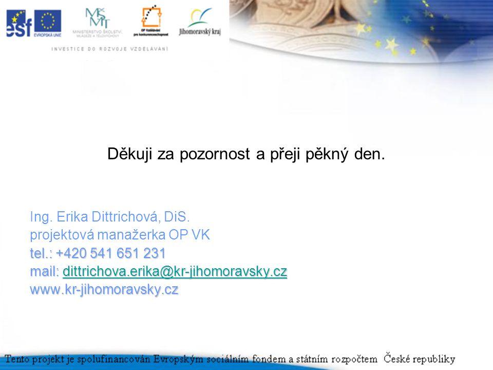 Děkuji za pozornost a přeji pěkný den. Ing. Erika Dittrichová, DiS.
