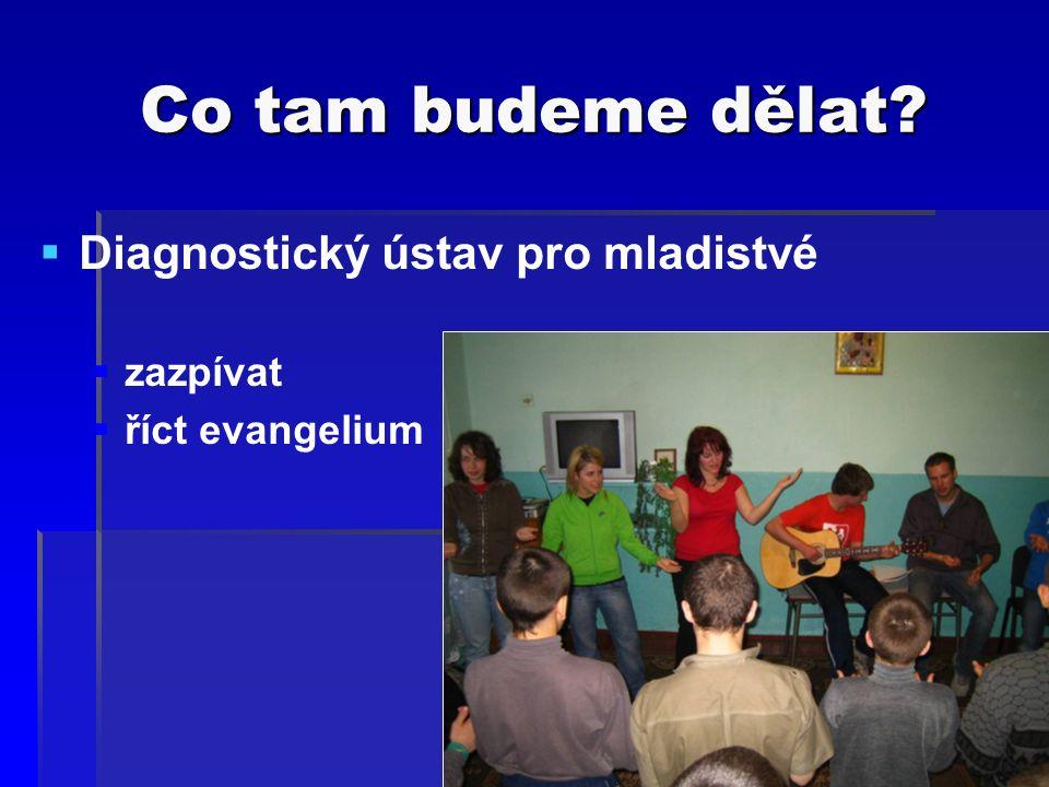 Co tam budeme dělat  Diagnostický ústav pro mladistvé  zazpívat  říct evangelium