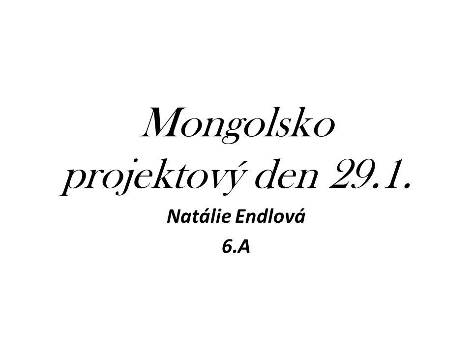 Mongolsko projektový den 29.1. Natálie Endlová 6.A